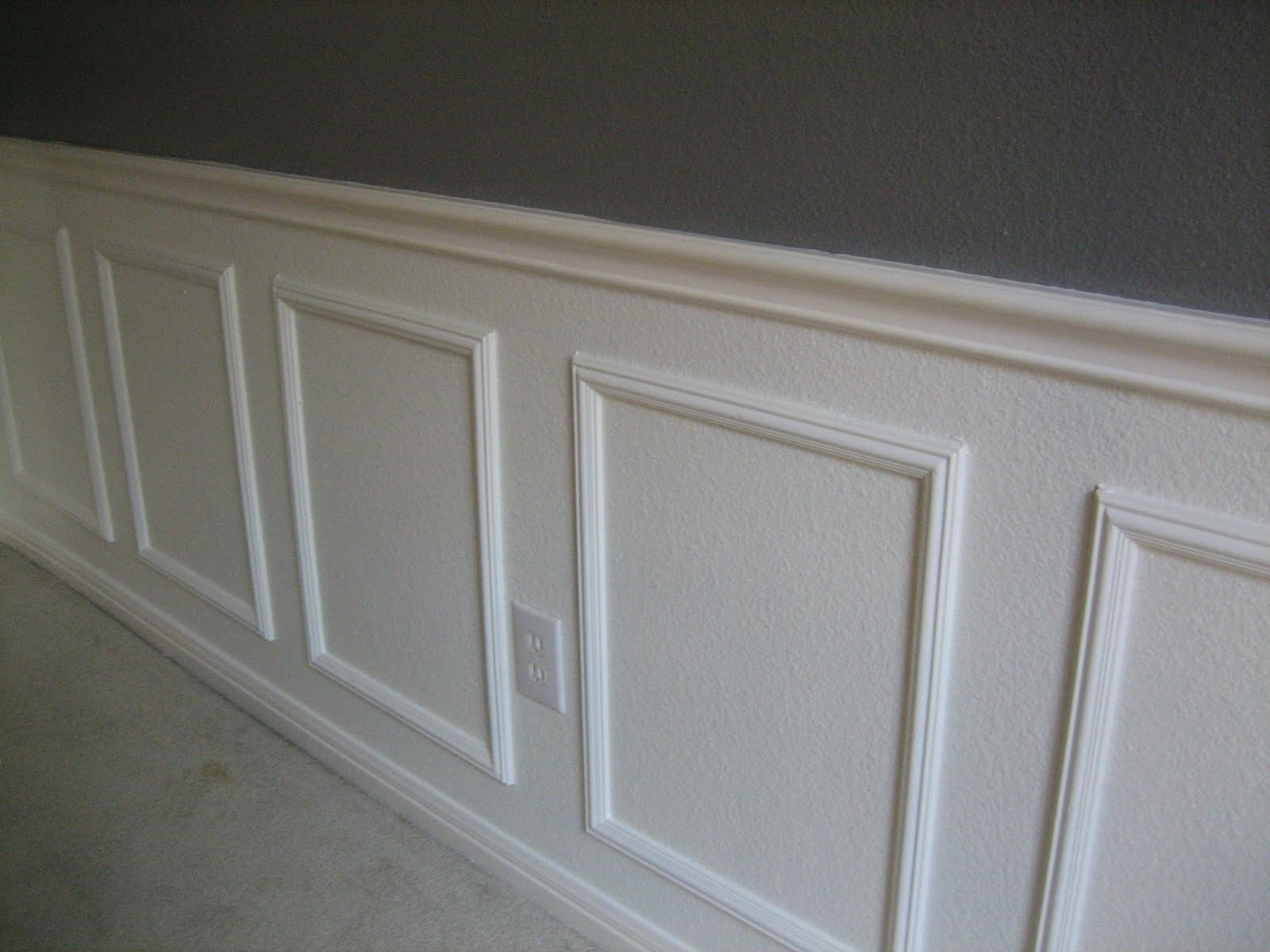 of my DIY wainscoting   Wainscoting