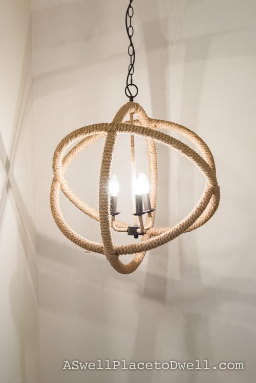 Rope Light Fixture  #chandelier