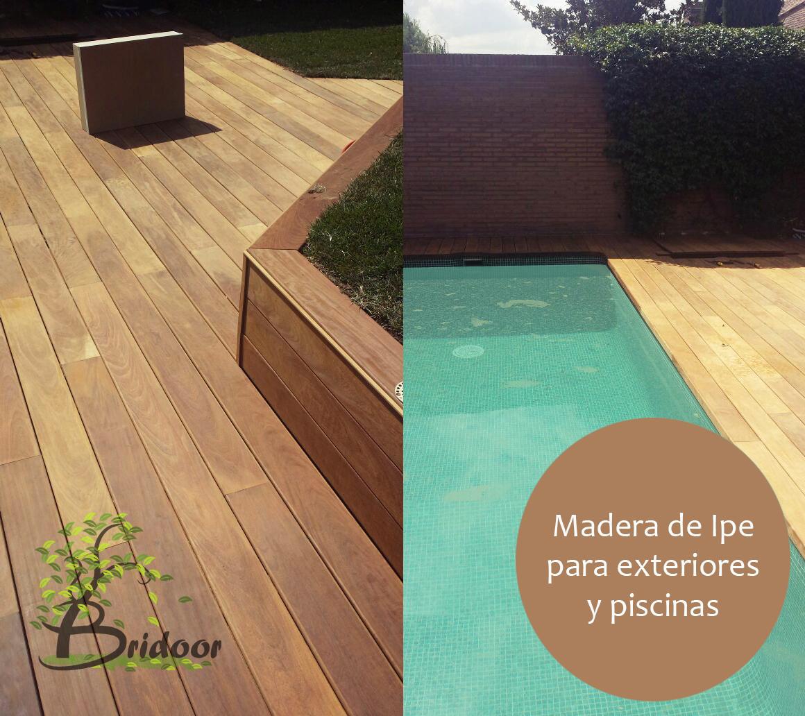 Bridoor s l madera de ipe para exteriores y piscinas for Madera para piscinas