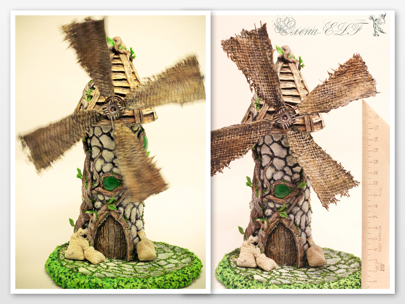 Мельница из природного материала своими руками фото