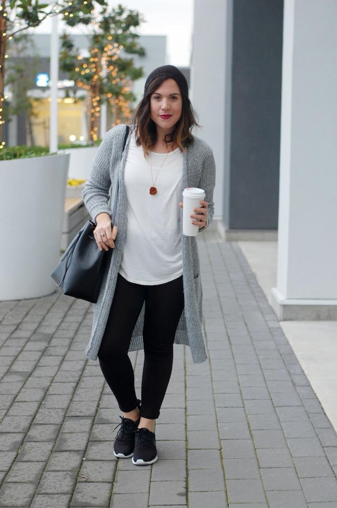 Le Chateau boucle maxi cardigan Vancouver fashion blogger