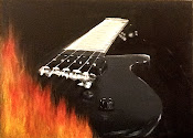 The guitar's on fire