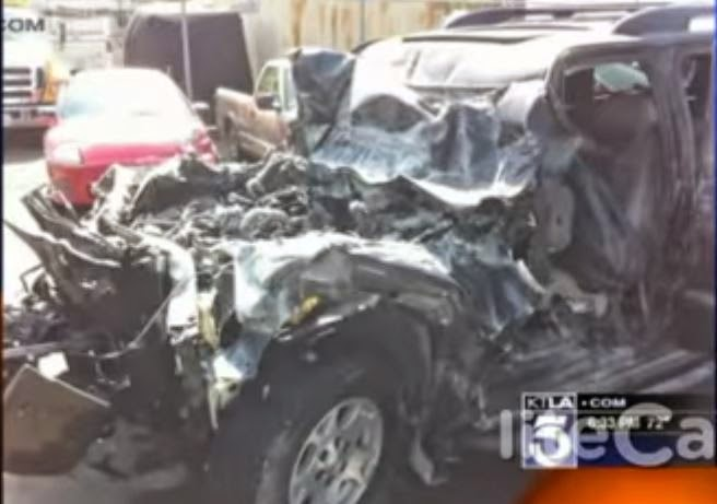 Burned SUV of Dr. Michael Shannon