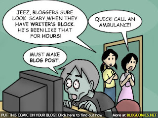 Bloggers Block, writers block comic, whole brain teaching