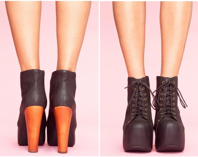 Jeffery Campbell lita boot in black, black lita boot
