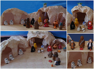 Vista general Belen de Star Wars hecho con Fimo
