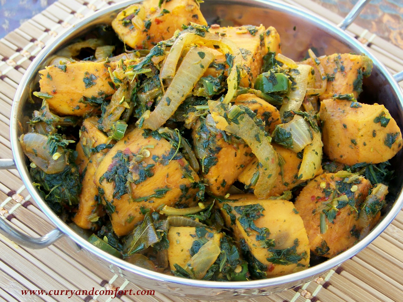Kitchen simmer spicy sweet potato and spinach curry spicy sweet potato and spinach curry forumfinder Images