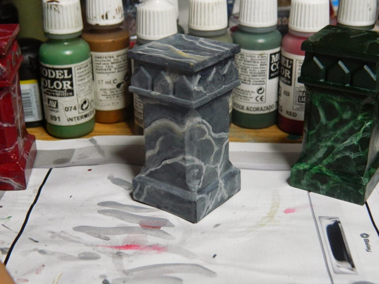 M rmol y otras piedras semipreciosas c mo pintar veteados for Pintura color marmol