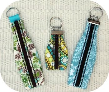 Embroidery Garden Zippered Key Fobs Machine Embroidery