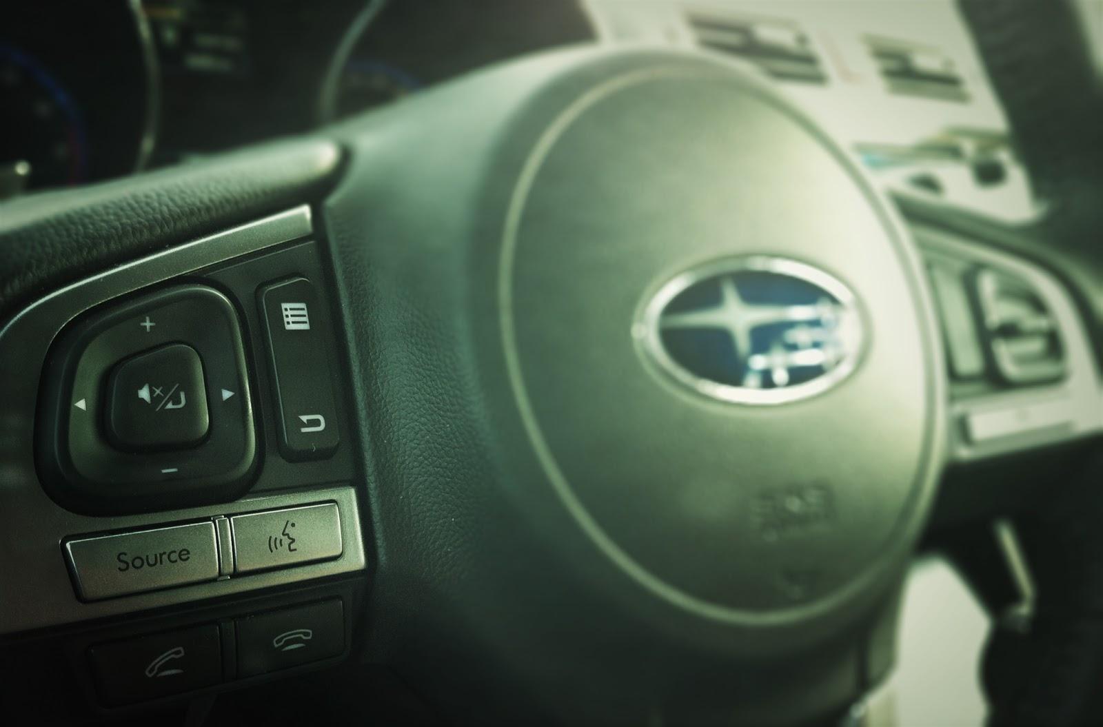 2015 Subaru Legacy 3.6R Limited Tech steering wheel