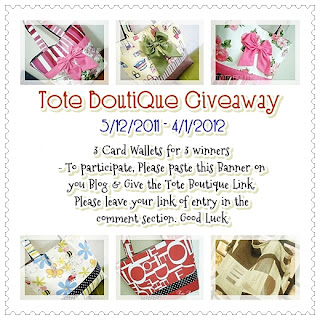 TOTE BOUTIQUE GIVEAWAY