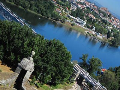 Tui and the Minho river from Valença do Minho