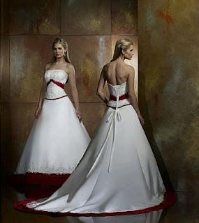 Vestidos de Novia Blanco y Rojo, parte 4
