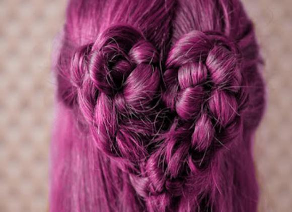 Trenzas en pelo rosa 2013