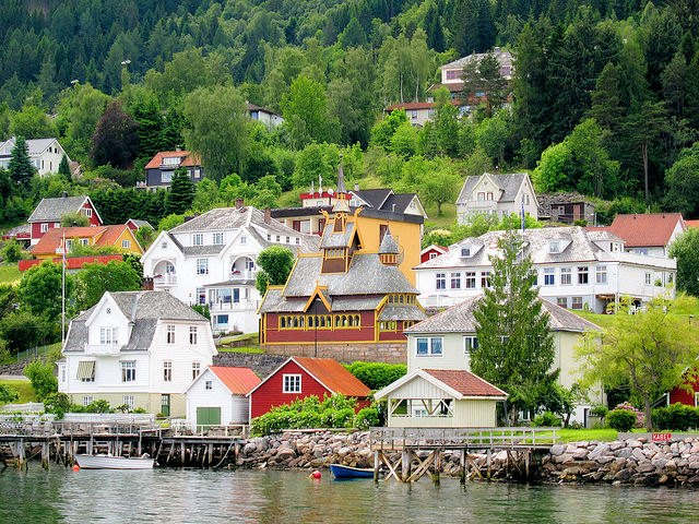 The picturesque village of Balestrand, Norway, has lured artists, writers, photographers and tourists alike for decades! Photo: Nelson Minar.