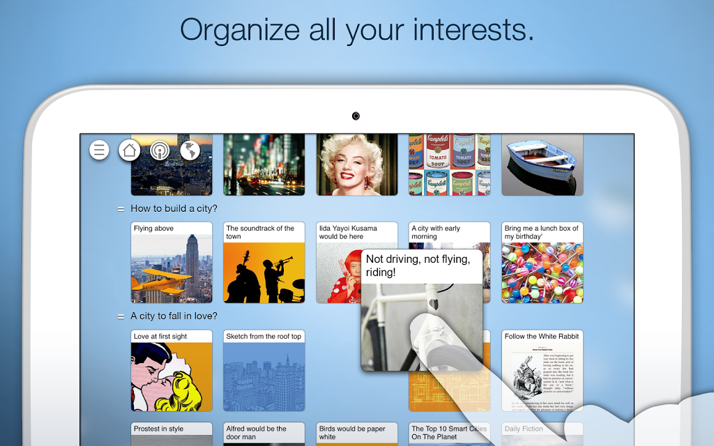 Organiza tus sitios con Pearltrees