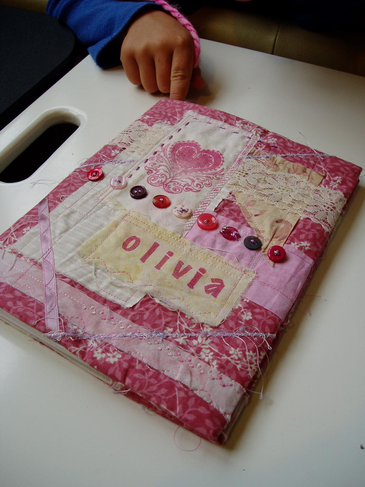 Fabric Cover For Book : Charlotte scott textile artist fabric book cover tutorial