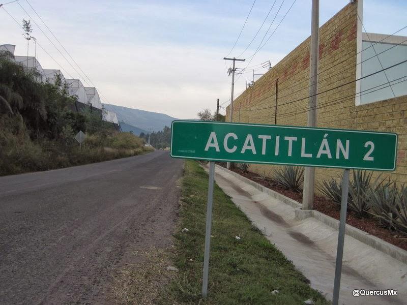 Rumbo a Acatitlán, lugar entre cañas