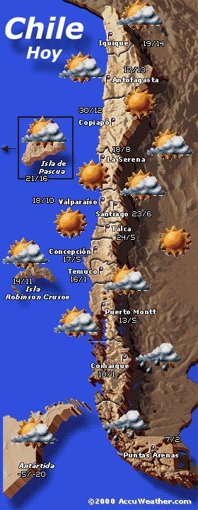 Temp. min/máx Chile