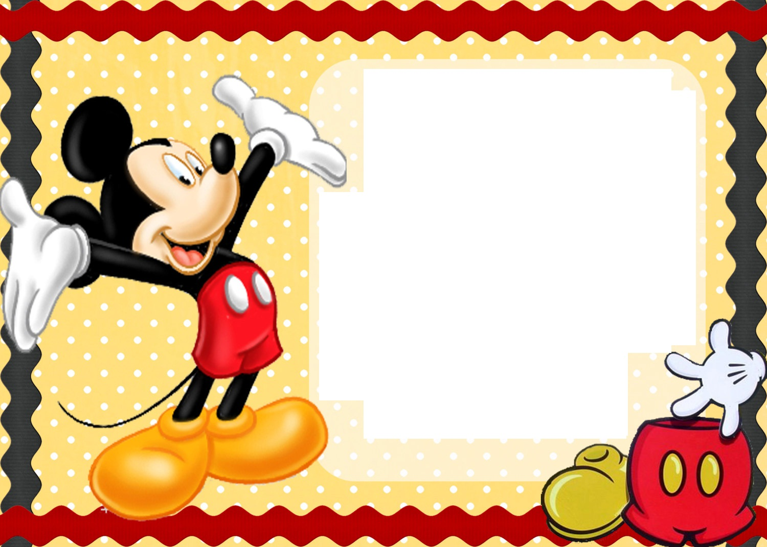 mickey mouse birthday invites free printable