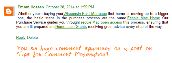 The Brazen Comment Spam