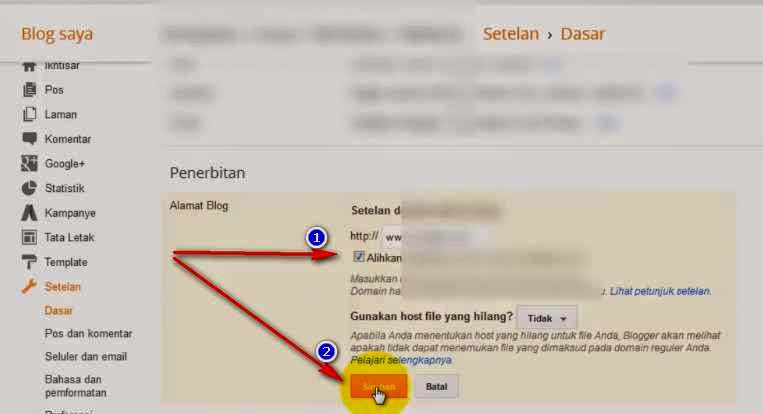 Cara Merubah Blogspot Menjadi Com