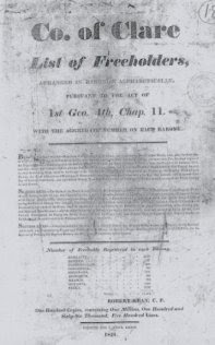 1821 List of Freeholders