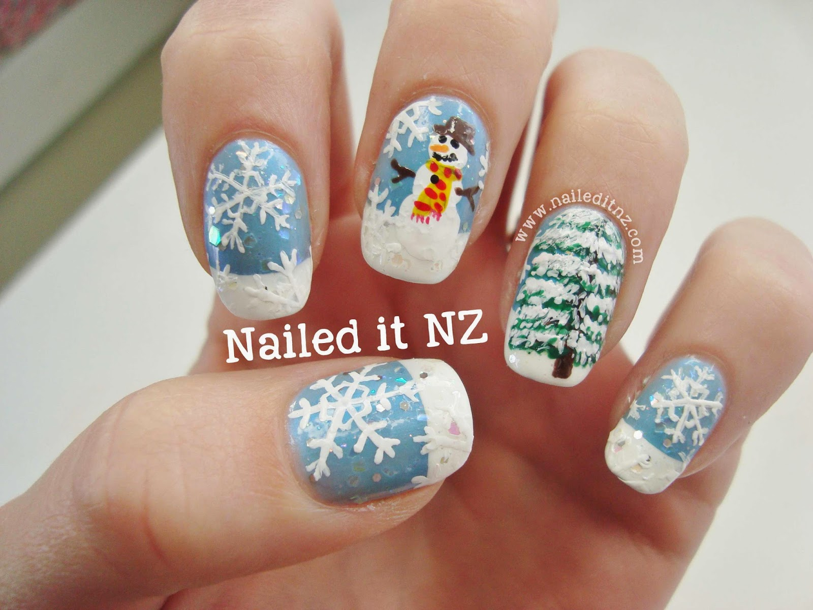 Snowman Nail Art - It\'s Getting Chilly!