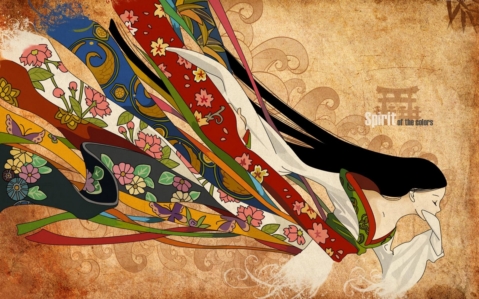 Japanese illustration wallpaper