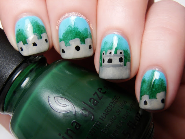 Time Periods Challenge Imperial China Great Wall nails nailart Spellbound Nails Emperor Qin Shi Huang