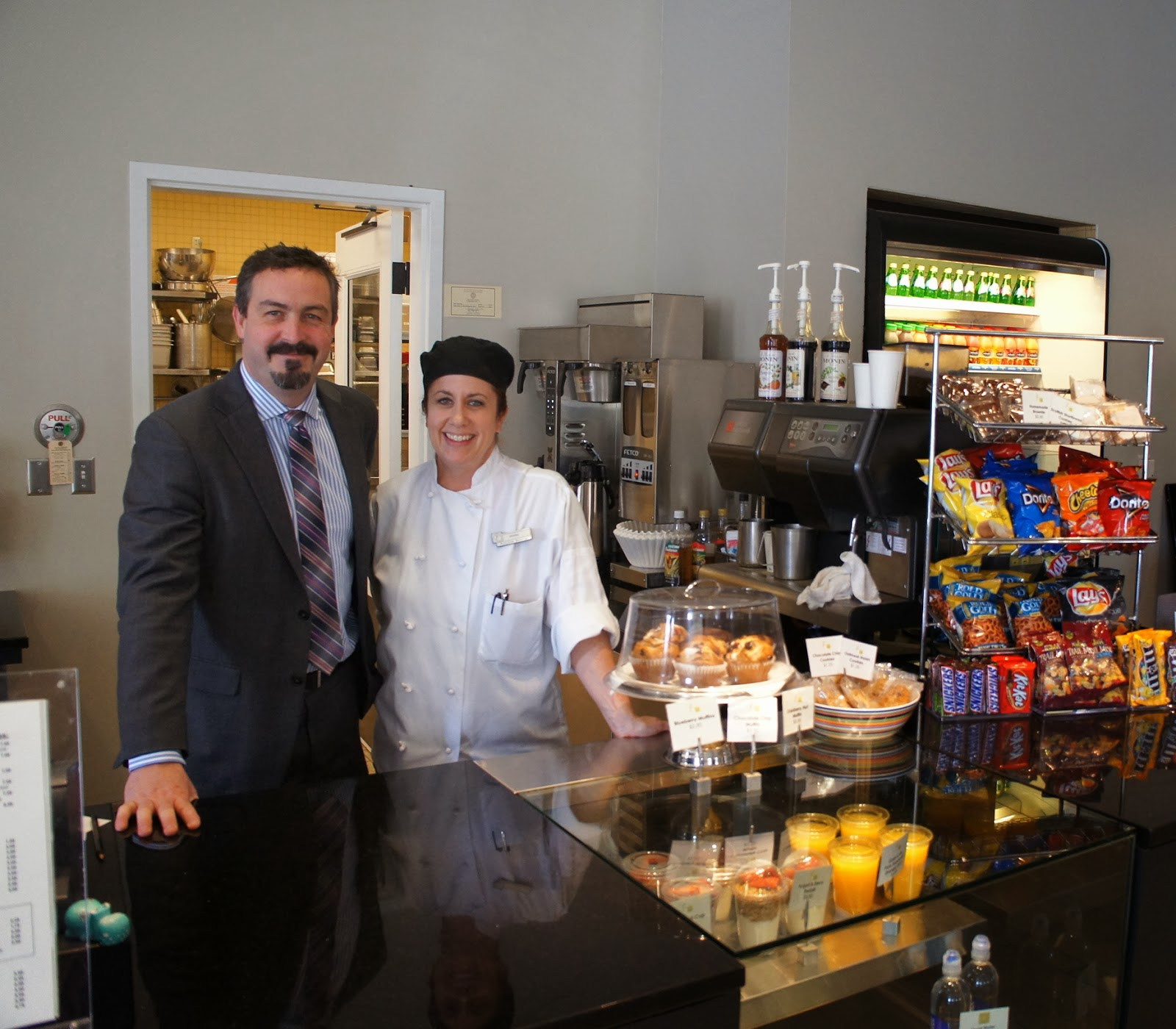 Charlie Skipsey, Director of Food and Beverage at AT&T Executive Education and Conference Center, and Jeanna Lewis, Chef Manager at the Blanton Cafe