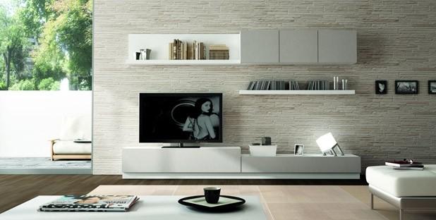 Amo la mia casa 10 idee per la parete tv - Mobile tv a parete ...