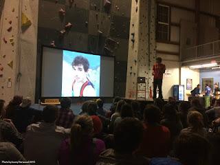 book signing, alex honnold, climbing, slideshow presentation