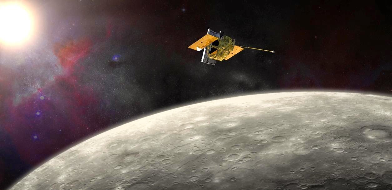NASA's MErcury Surface, Space ENvironment, GEochemistry, and Ranging (MESSENGER) spacecraft traveled more than six and a half years before it was inserted into orbit around Mercury on March 18, 2011. Image Credit: NASA/JHU APL/Carnegie Institution of Washington