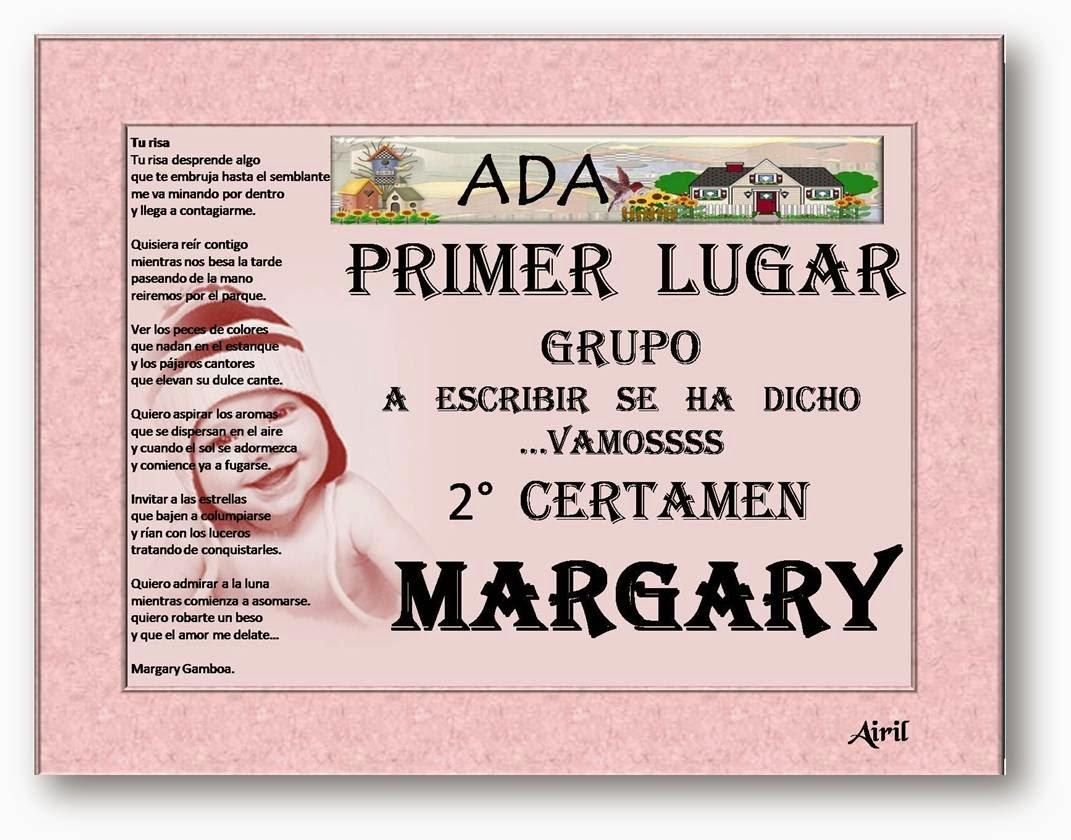 ADA. PRIMER PREMIO