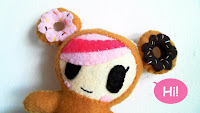 tokidoki Donutella felt plush with Bubs B4Astudios
