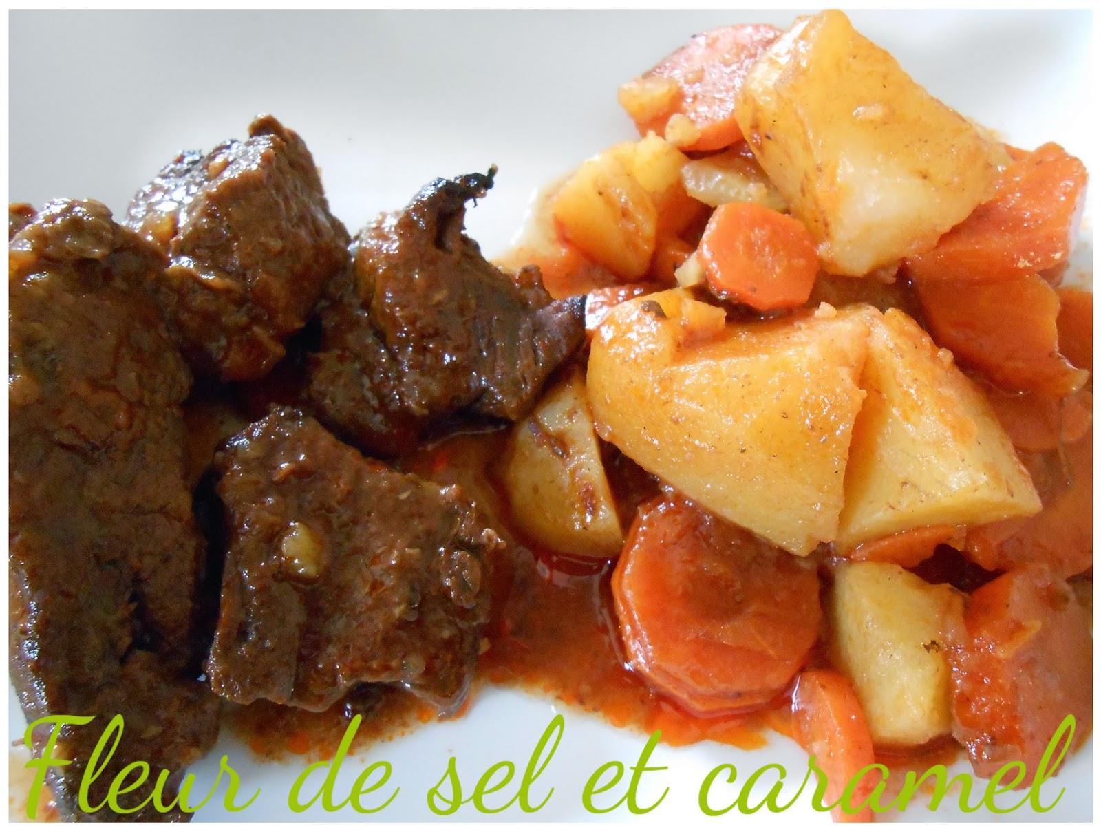 Boeuf braisé aux carottes et pommes de terre