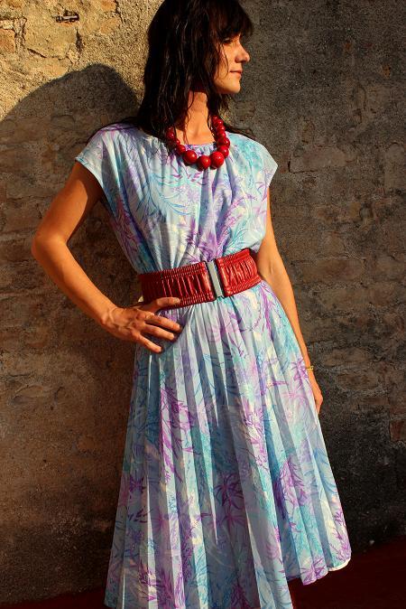 vintage dress floral pattern spring dress summer dress