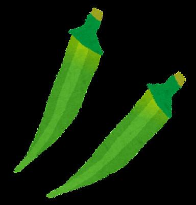 オクラのイラスト(野菜)