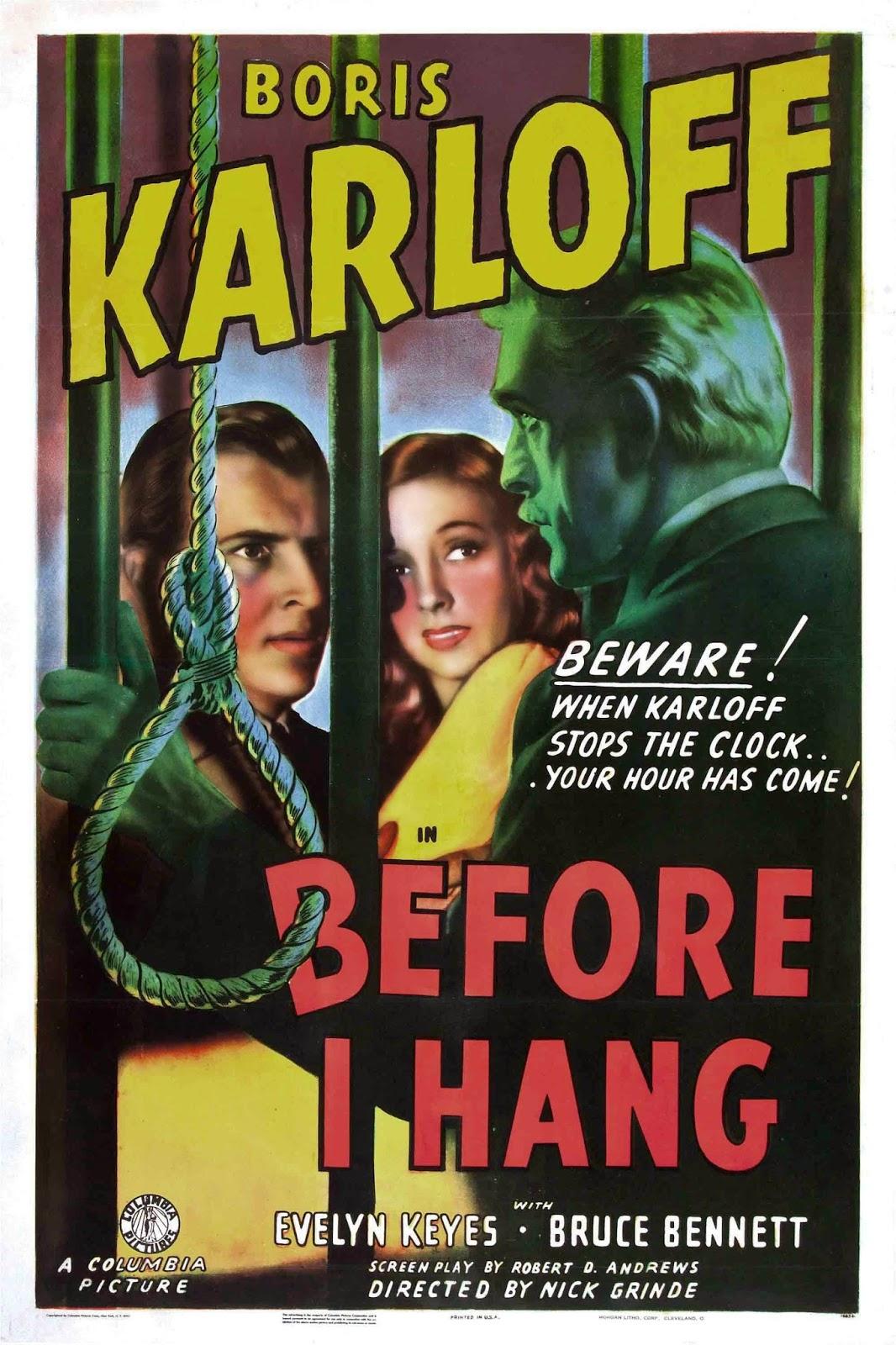 Poster design 1940 - 1940 Before I Hang