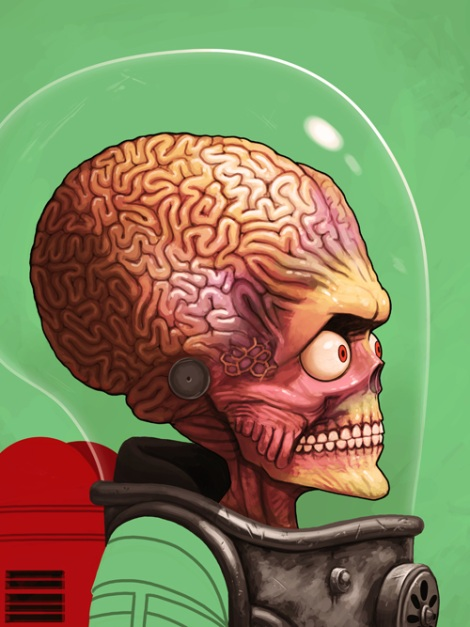 Mars Attacks Alien by Mike Mitchell
