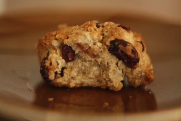 biscuits aux cramberies et flocon d'avoine - le goût d'abord