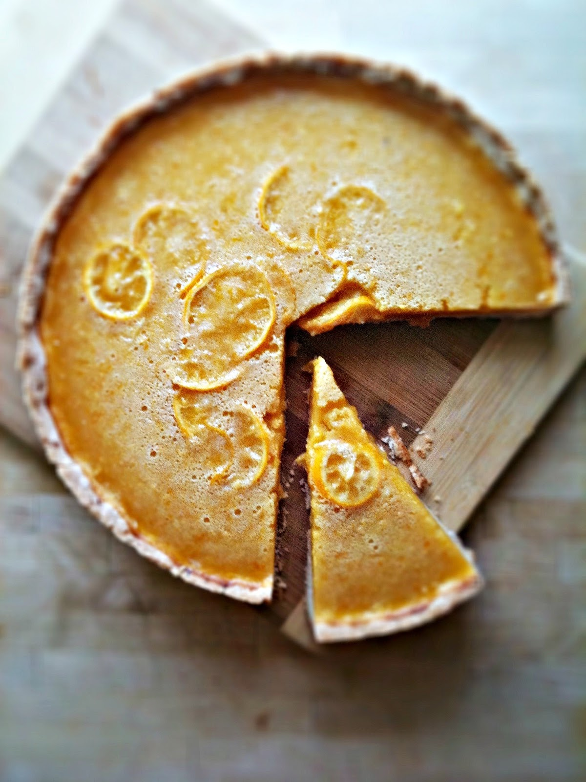 sweetsugarbean: Meyer Lemon Honey Tart with Salted Shortbread Crust