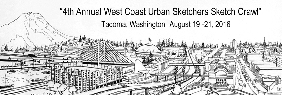 4th Annual West Coast Urban Sketchers Sketch Crawl - Tacoma