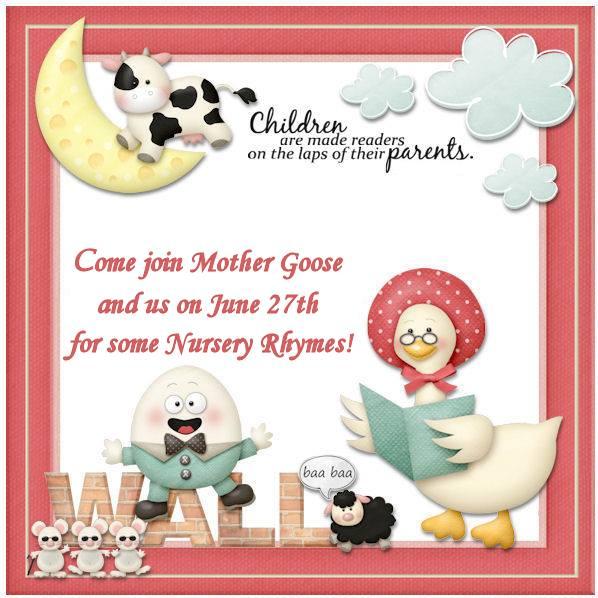 Mother Goose Blog Hop - June 27th