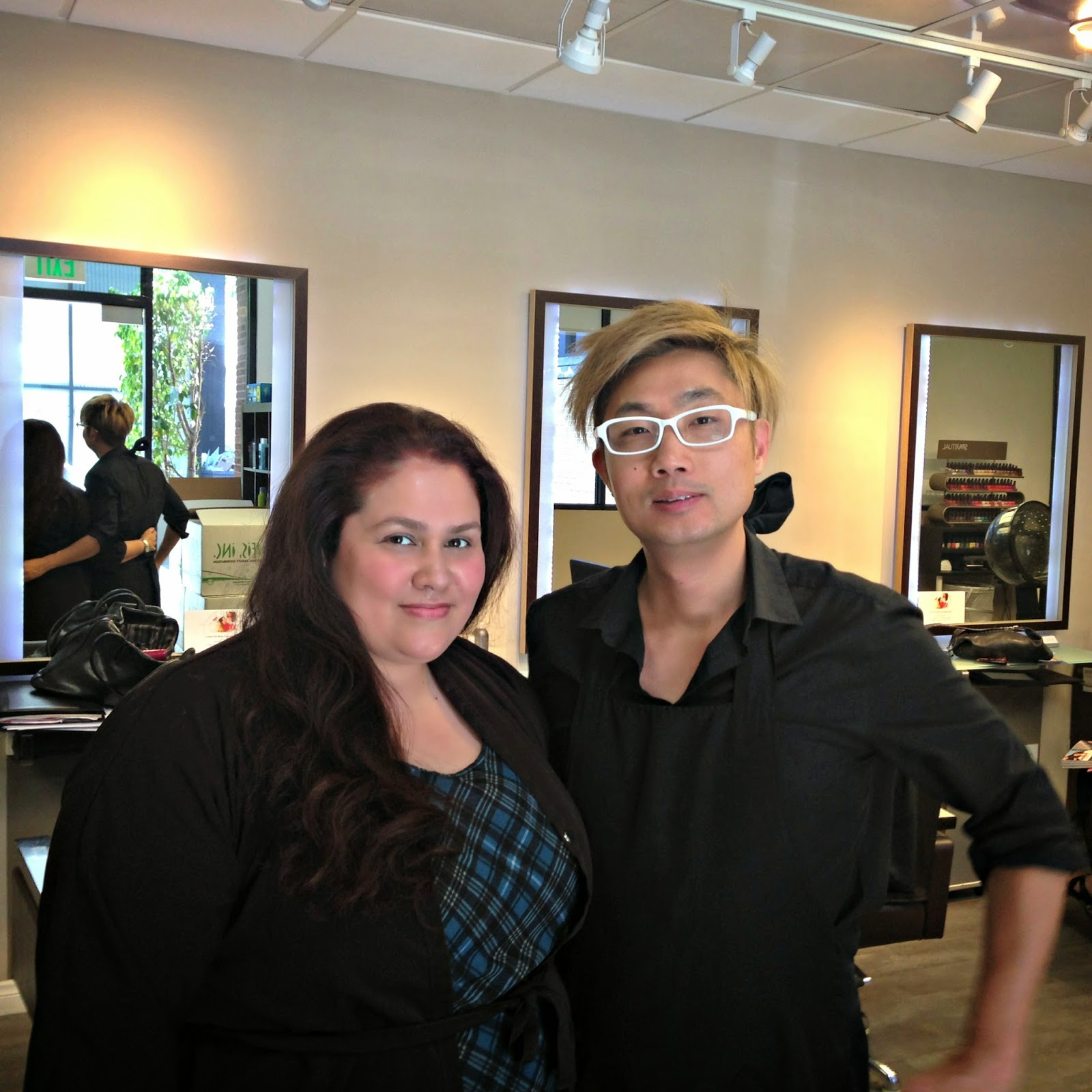 nelson j salon, beverly hills, aveda salon, hair transformation, red hair, no curls, blow out