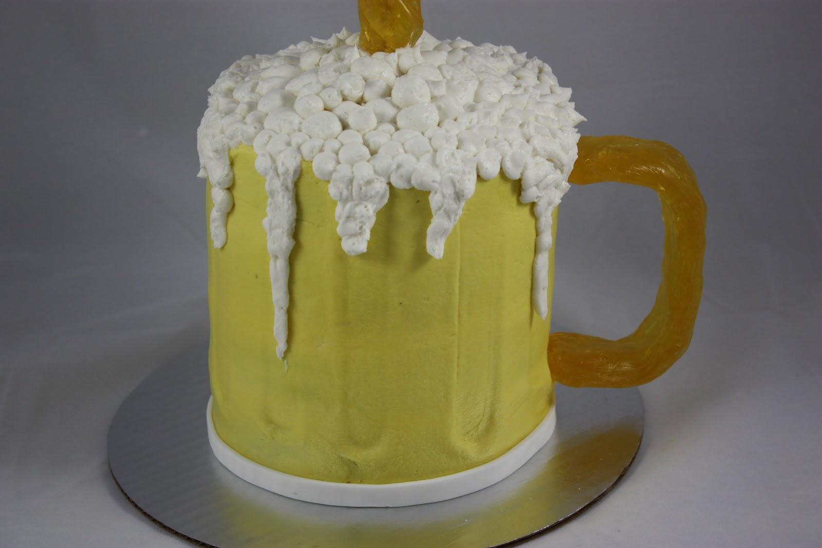 Beer Glass Cake Design : Sweet On You-Designer Cups & Cakes: Beer Mug Cake