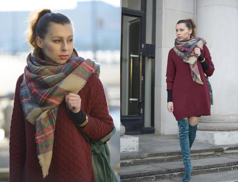Zara checkered scarf