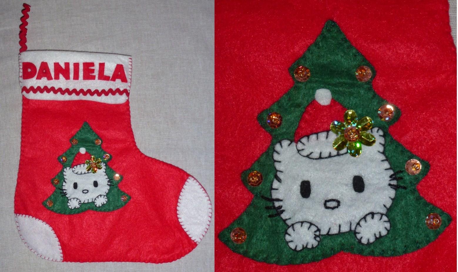 Creaciones en fieltro lorovi calcetin de navidad para daniela - Calcetin de navidad ...