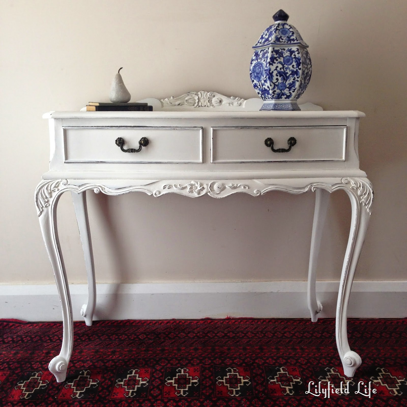 Lilyfield Life White Painted French Style Hall Table Vanity